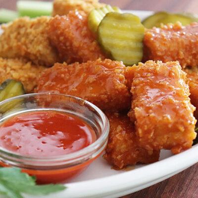 Vegan Nashville Hot Tofu Nuggets Recipe