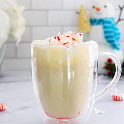 Vegan Peppermint White Hot Chocolate