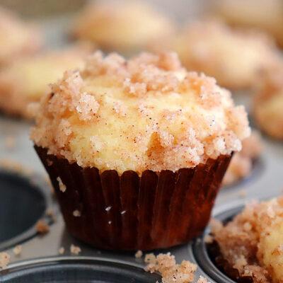 Mini Vegan Coffee Cake Muffins