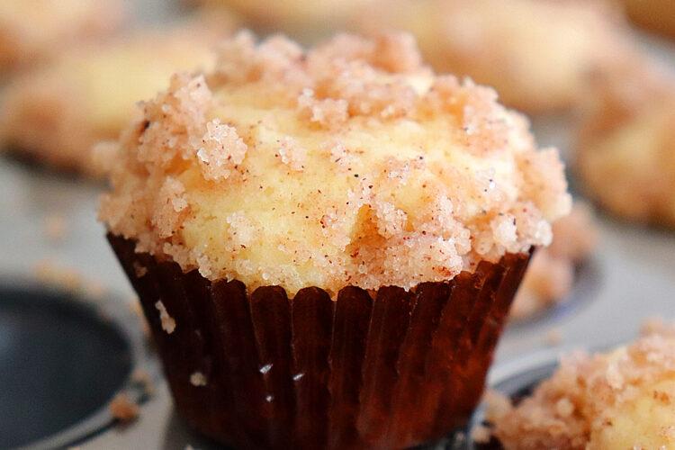 Mini Vegan Coffee Cake Muffins HERO shot