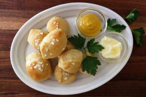 Super Soft Vegan Pretzel Bites with Mustard Hero Image