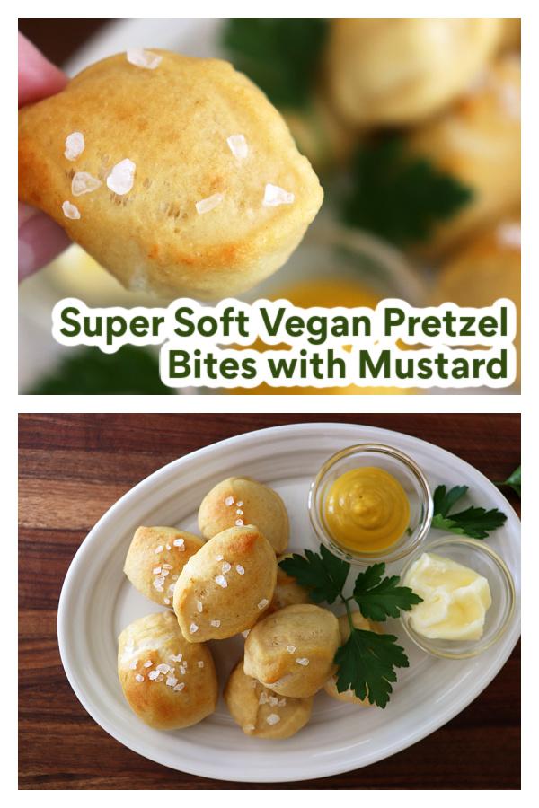 PIN for Super Soft Vegan Pretzel Bites with Mustard