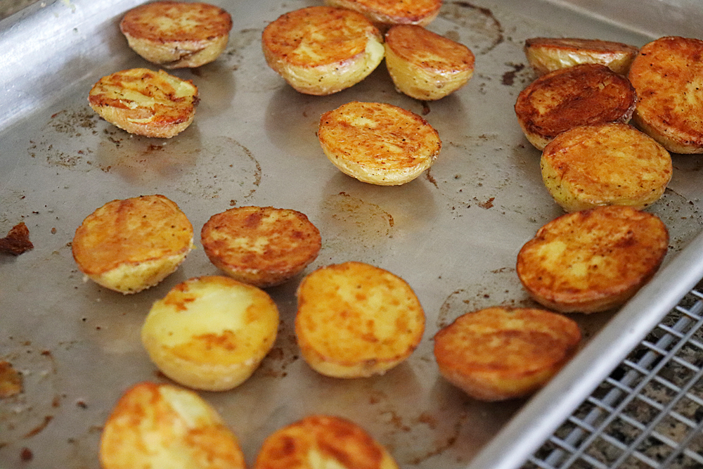 Oven Roasted Baby Dutch Potatoes Recipe FLIP side