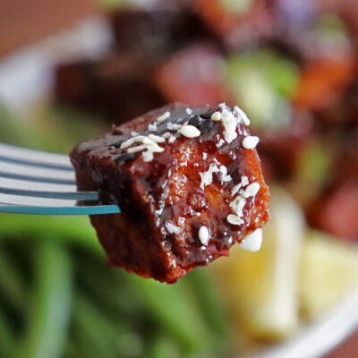 Crispy Hoisin Glazed Tofu with Green Beans