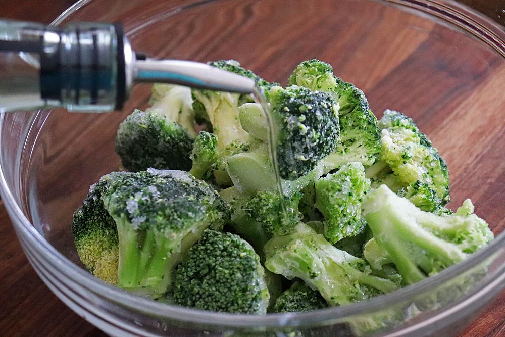 Adding Oil to Frozen Broccoli