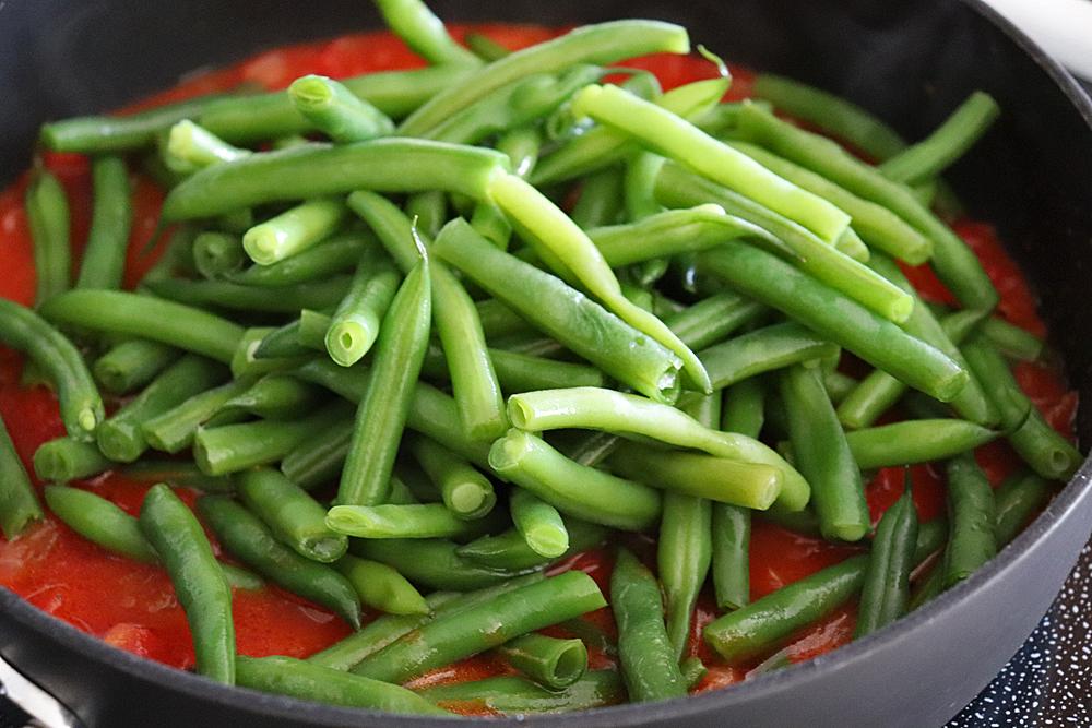 Add green beans
