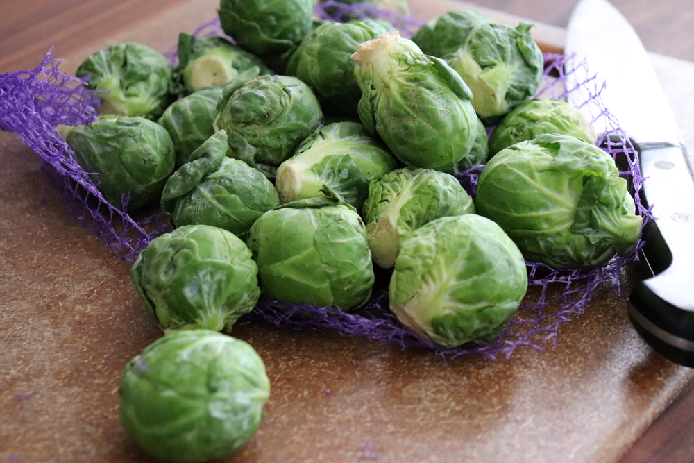 Bag of Brussels Sprouts for Sauteed Shredded Brussels Sprouts