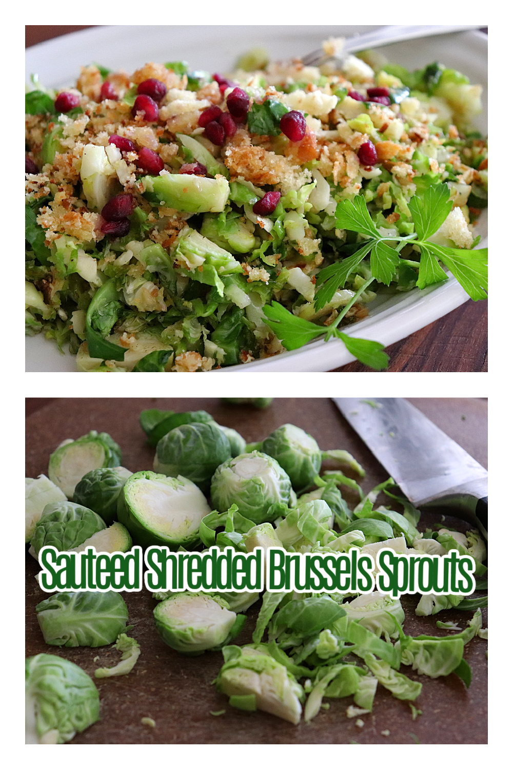 Pinterest Ad Pin Sauteed Shredded Brussels Sprouts